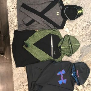 3 Under Armour tops.